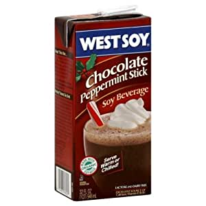 Westsoy Chocolate Peppermint Stick Soy Beverage, 32 oz. Aseptic ...