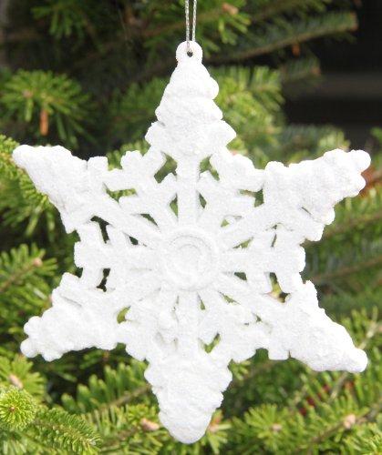 12cm Schneeflocke weiß Christbaumschmuck