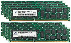Adamanta 64GB (8x8GB) Apple RAM Upgrade for Mac Pro Mid 2010 (Quad Core Nehalem) 3.2GHz DDR3 1066MHz PC3-8500 ECC Unbuffered 2Rx4 CL7 1.5v 36 Chips AM41EF21G72 KS
