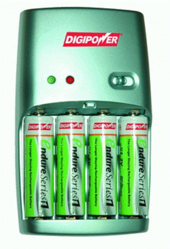 Digipower DPS-601 Endure 2-3 Hour Charger With 4 Pre-Charged 2000mAh Nimh Batteries