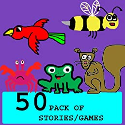 50 Pack Stories/Free Fun Games (Children's Picture Books)