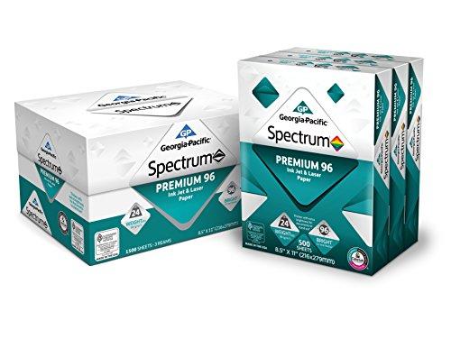 GP Spectrum® Premium 96 Ink Jet & Laser Paper, 8.5 x 11 Inches, 3-Ream (1500 Sheets) (998605)
