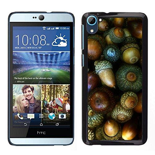 GIFT CHOICE / Dimagriscono Duro Custodia protettiva Caso Cassa Slim Hard Protective Case SmartPhone Cover for HTC Desire D826 // Dado verde Autumn Acorn //