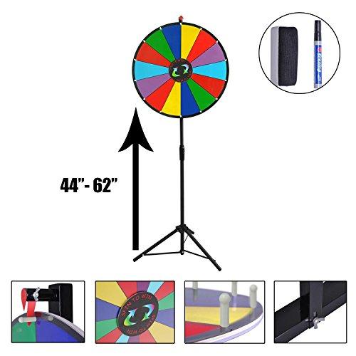 Koval Inc Dry Erase Spinning Prize Wheel (Rainbow5, 24