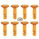 Payeel Seatbelt Cutter Window Breaker Escape Tool (Bright Orange 8 pack)