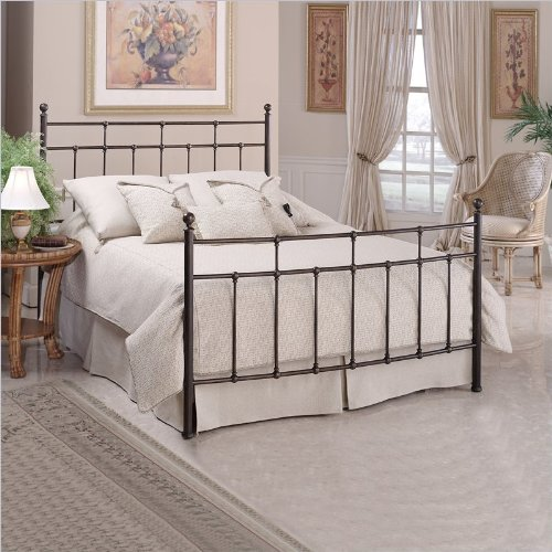 Hillsdale Furniture 380Bfr Providence Bed Set With Rails, Full, Antique Bronze front-782885