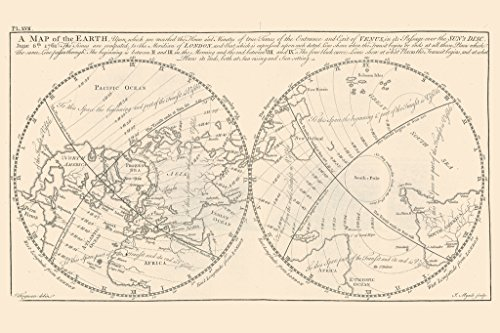 Map-of-The-Earth-Sir-Isaac-Newtons-Principles-Science-Art-Print-Poster-12x18