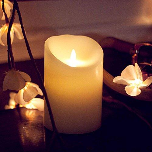 CRZM 本物そっくり ろうそく 超リアルな LED キャンドル ライト ゆらゆらと優しく揺らぐ ロマンチック (10cm)