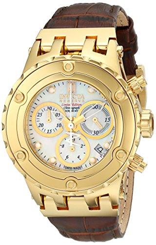 Invicta Women's 14605 Jason Taylor Analog Display Swiss Quartz Brown Watch