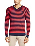 Flying Machine Men's Cotton Sweater (8907259130262_FMSW4242_Large_Poinsettia)