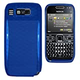 Cooltechstuff Nokia E72 Soft Silicone Hexagon TPU Gel Gel Skins Blue Case Cover- Part of Cooltechstuff Store Accessories
