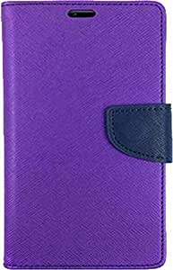 Exoic81 Wallet Flip Cover For Sony Xperia T3 - PURPLE