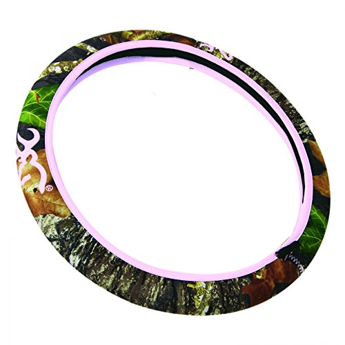 Browning Neoprene Steering Wheel Cover (Pink Buckmark and Trim, Mossy Oak Break-Up Camouflage, Sold Individually) (Up Wheels compare prices)