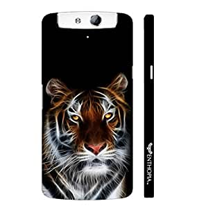 Oppo N1 ELECTRIFYING TIGER designer mobile hard shell case by Enthopia