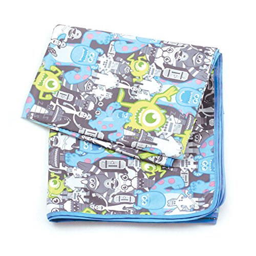 Bumkins Disney Baby Splat Mat, Monsters Gray
