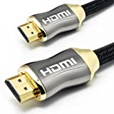 LCS – ORION – 1M – ULTRA SERIES – HDMI 1.4a Generation – High speed with ETHERNET und 3D – Quad-Abschirmung / geflochten – für alle HDTV, LCD, LED, Plasma – Nutzen Sie die Vorteile von neuen Technologien ARC – CEC – Signal Video High Performance mit Deep Color und x.v.Color bis zu 4096 von 2160 (Digital Cinema Format 2160p) – Geräten wie Home-Theater, Blu-ray (Multimedia), PC, Xbox, PS3, Camcorder, Kamera, etc. … …