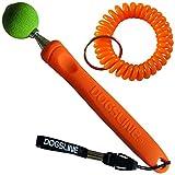 Dogsline Target Stick mit keyfix Spiralarmband für Erziehung Ausbildung und Training , Edelstahl 17-73cm orange , DL13TSS