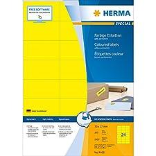 Herma 4406 Étiquettes 70 x 37 A4 2400 pièces Jaune