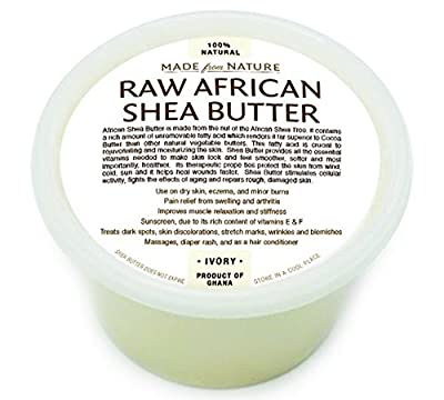 Made From Nature's Raw Unrefined African Shea Butter Selections !!! (8 Oz, 16 Oz, 32 Oz)- Grade a Premium Shea Butter From Ghana - Use on Acne, Eczema, Stretch Marks, Rashes - Satisfaction Guarantee