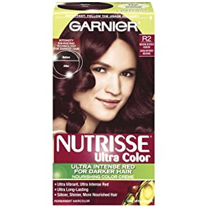 Garnier Nutrisse Nourishing Permanent Haircolor, R2 Medium Intense Auburn