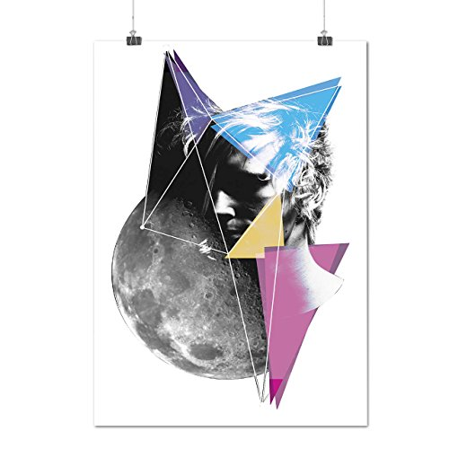 Esterno Spazio Persone Cosmo Futuro Opaco/Lucida Poster A2 (60cm x 42cm) | Wellcoda