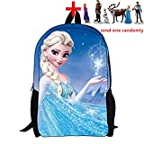 Frozen School Bag Rucksack Backpack w/ one piece action figure doll