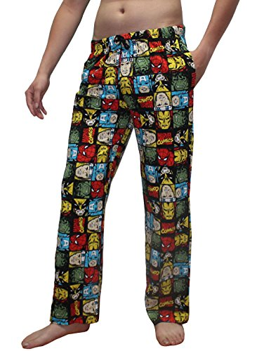 Mens MARVEL COMICS (SPIDERMAN, HULK, IRON MAN) Cotton Pajama Pants