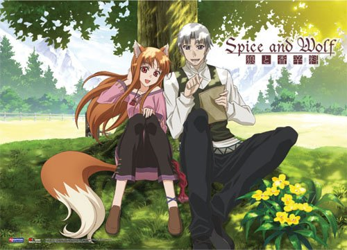 Spice and Wolf Couple Wallscroll