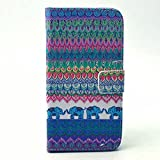 S6 Edge Case, JCmax Premium Elephant Pattern Flip Wallet Case with Stand Function for Samsung Galaxy S6 Edge- Blue
