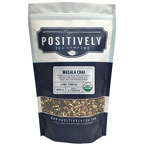 Organic Masala Chai Tea, Loose Leaf Bag, Positively Tea LLC. (1 lb.) (Positively Organic compare prices)