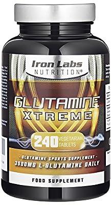 Glutamine Xtreme | L-Glutamine 500mg x 240 Tablets | Highest Quality GLUTAMINE - Sports Supplement | 240 Vegetarian Tablets Manufacturer: Iron Labs Nutrition