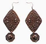 Molcha Engraved Vintage Metal Earrings For Women _8046