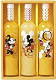 (母の日/ギフトセット) ミッキーマウス & ミニーマウス (オレンジ アップル 100%ジュース/ラッピング カーネーション付き) 3本セット ディズニー