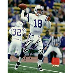 Peyton Manning Signed 8X10 Photo Autograph Indianapolis Colts UDA Upper Deck COA by Upper Deck Authenticated