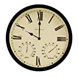 Radio Controlled Multi function 35cm (13.7″) Outdoor Garden Clock