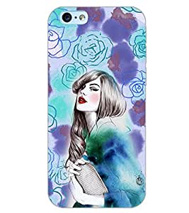 PrintDhaba FLOWER GIRL PATTERN D-6425 Back Case Cover for APPLE IPHONE 6S PLUS (Multi-Coloured)