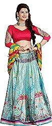 SAI Fabrics Women's Floral Printed Lehenga Choli With American crap inner