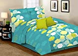 Desirica Signature Aqua Blue Double Bed Sheet With 2 Pillow Covers (Cotton)