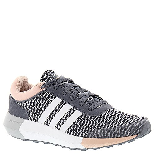 Adidas NEO Women's Cloudfoam Race W Running Shoe, Onix/White/Vapor Pink F16, 10 M US