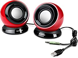 Lenovo M0520 2.0 Channel Speakers - Red