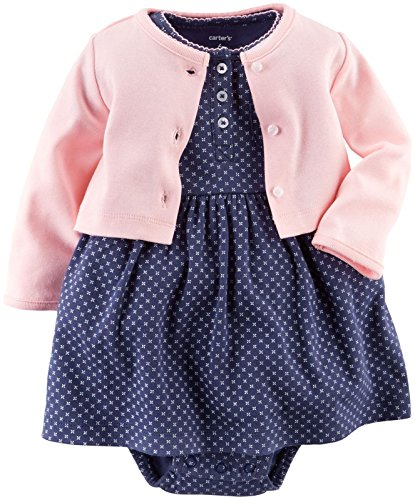 Carter's Baby Girls' 2 Piece Geo Print Dress Set (Baby) - Pink - 12M