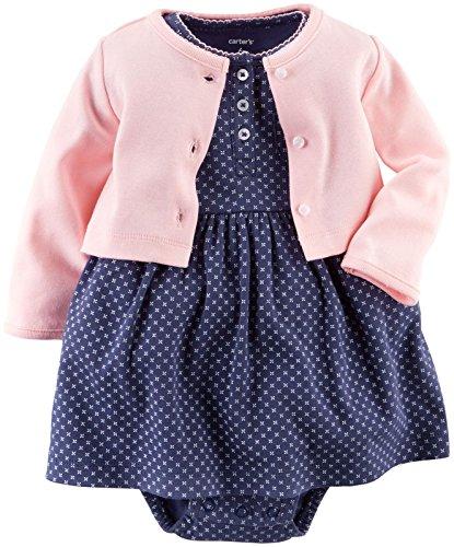 Carter's Baby Girls' 2 Piece Geo Print Dress Set (Baby) - Pink - 9M