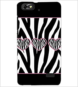 PrintDhaba Hearts D-1306 Back Case Cover for HUAWEI HONOR 4C (Multi-Coloured)