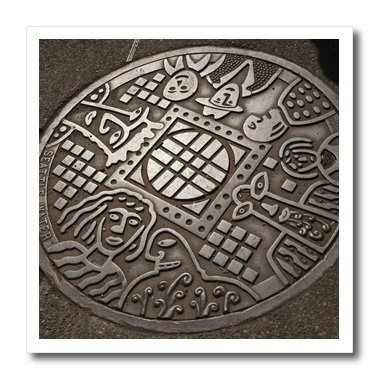Danita Delimont - Seattle - USA, Washington, Seattle, Manhole cover - US48 JME0537 - John and Lisa Merrill - 10x10 Iron on Heat Transfer for White Material (ht_147927_3)