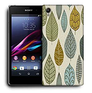 Snoogg Standing Leaves Printed Protective Phone Back Case Cover For Sony Xperia Z3