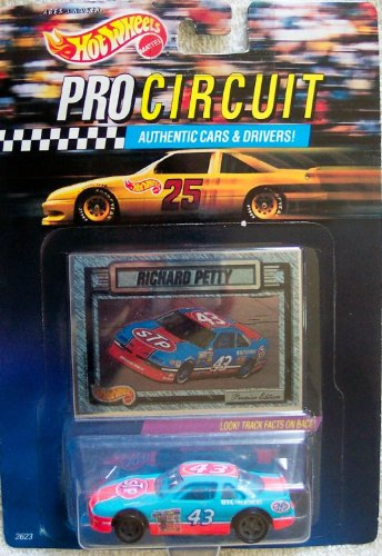 Richard Petty #43 Pontiac Grand Prix STP 1/64th Scale Diecast Hot Wheels Pro Circuit With Foil Card Insert - 1