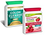 PURE Raspberry Ketone 1000mg + Colon Cleanse ALOE VERA - Lose Up To 4.5 Kilos In 4 Weeks ! * NEW FORMULA * 1000mg Super Strong Slimming Diet Pills AMAZING Fat Burner ! Lose Weight and Slim Fast ! 120 Tablets Raspberry Ketones + 120 Pills of Colon Cleanser With ALOE VERA - FREE UK DELIVERY + FREE DIET PLAN With Every Order !
