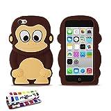 Custodia flessibile Bruna Scimmia ORIGINALE di MUZZANO per APPLE IPHONE 5C