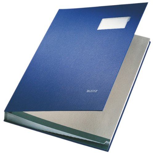 Leitz Signature Book 20 Compartments Durable Blotting Card 340x240mm Blue Ref 5700-00-35