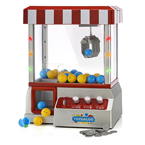 Toydaloo Home Claw Grabber Classic Arcade Game with Lights, Sounds, and Non-Stop Action; Includes 24 Reusable Toy-Filled Capsules (Candy Crane Machine compare prices)